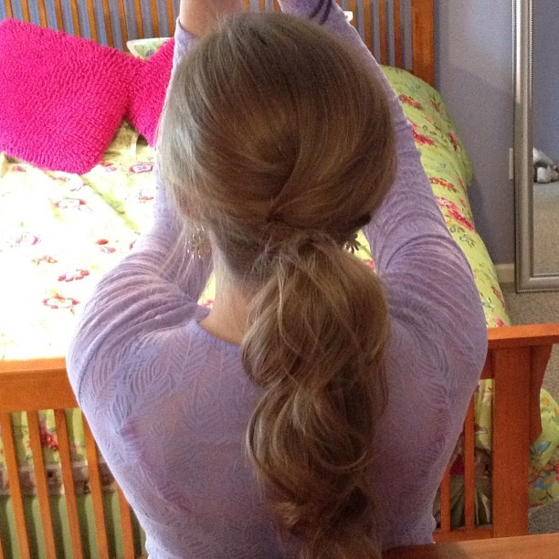 Cute and Easy Bumped/Poofed Ponytail