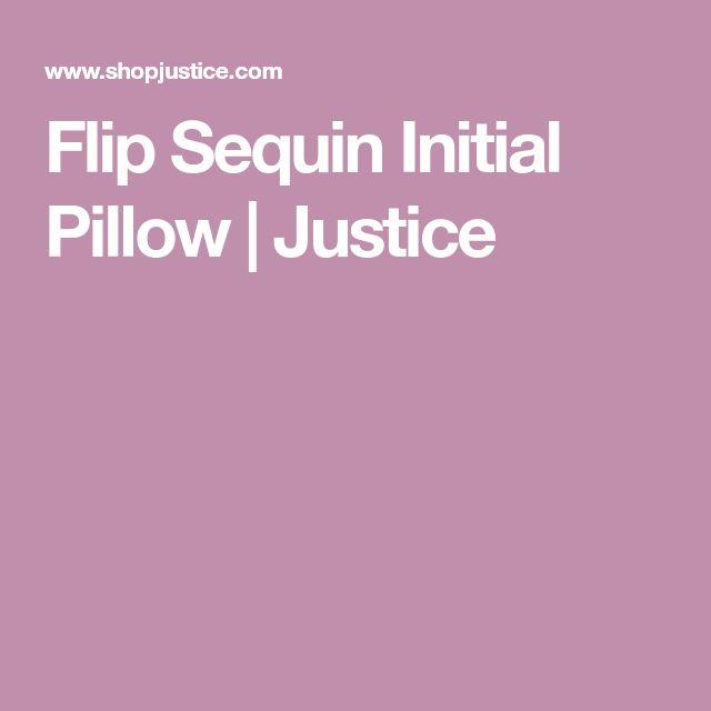 Flip Sequin Initial Pillow | Justice