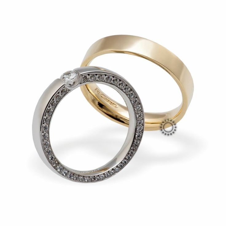 Βέρες γάμου Facadoro 28Α/28Γ - Ένα διαχρονικό σχέδιο από βέρες FaCadoro. Η γυναικεία παραλλαγή μπορεί να είναι ένα μοντέρνο πολύτιμο μονόπετρο δαχτυλίδι | ΤΣΑΛΔΑΡΗΣ #βέρες #βερες #γάμου #facadoro #tsaldaris