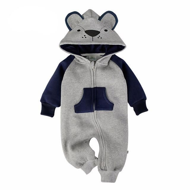 Baby Clothing Fox Bear Rompers Newborns Body Suit Kids Clothes Boy Girl Jumpsuit Baby Romper Hooded Warm Cotton Infant Overall - Best price in 10minus
