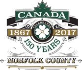 Norfolk County 150 Years Logo