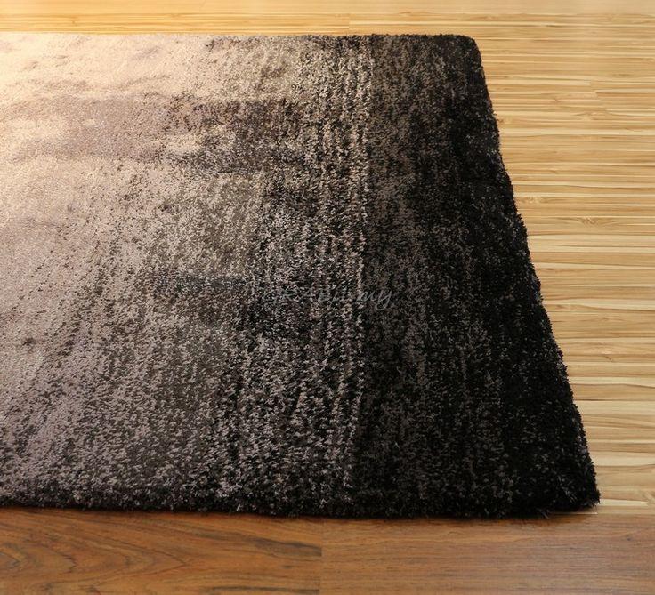 Soft Touch Shading - BLACK & GREY - Plush Rug - Rugs