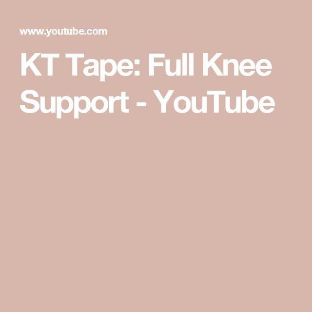 KT Tape: Full Knee Support - YouTube
