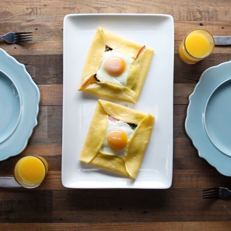 Savory Breakfast Crepe Pockets