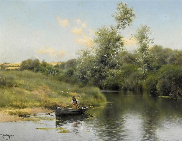 Emilio Sánchez Perrier - A Summer Day on the River II