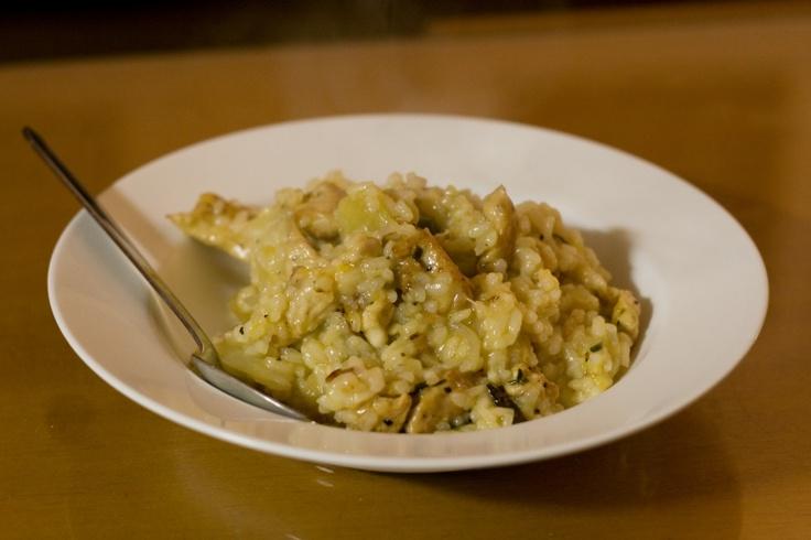 Risotto de poulet au lait de coco