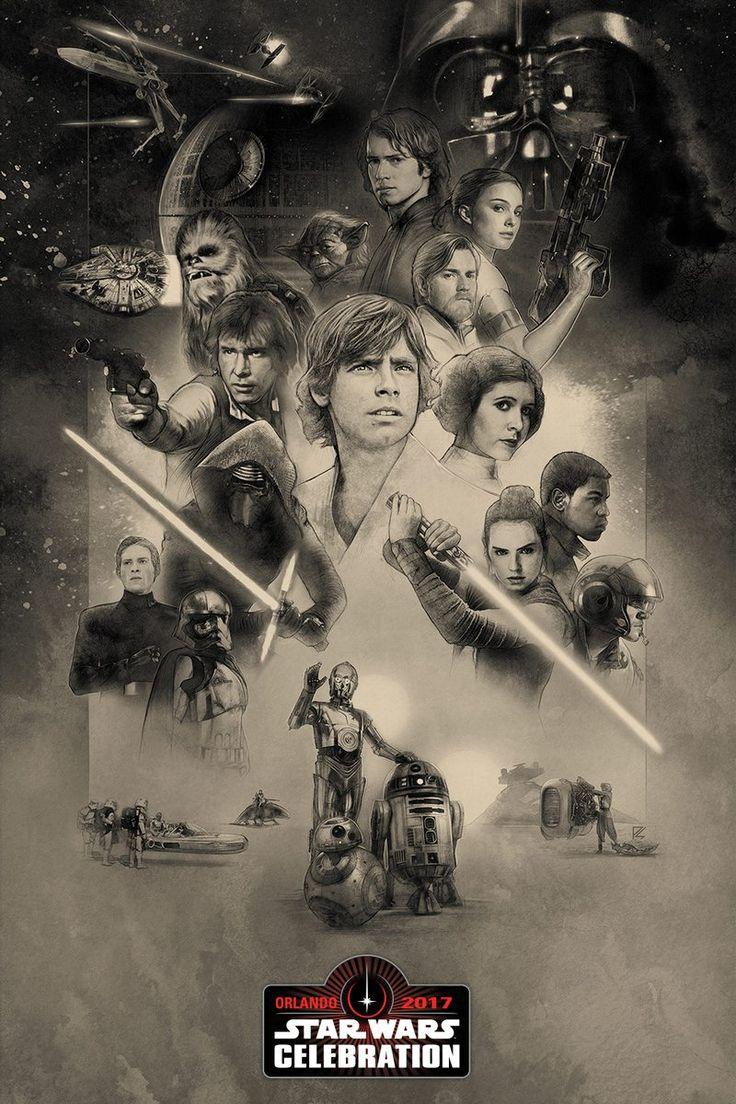 STAR WARS, Fantastic Beasts, Disney, Marvel, Agents of O.N.C.E., Poster of the Star Wars Celebration 2017