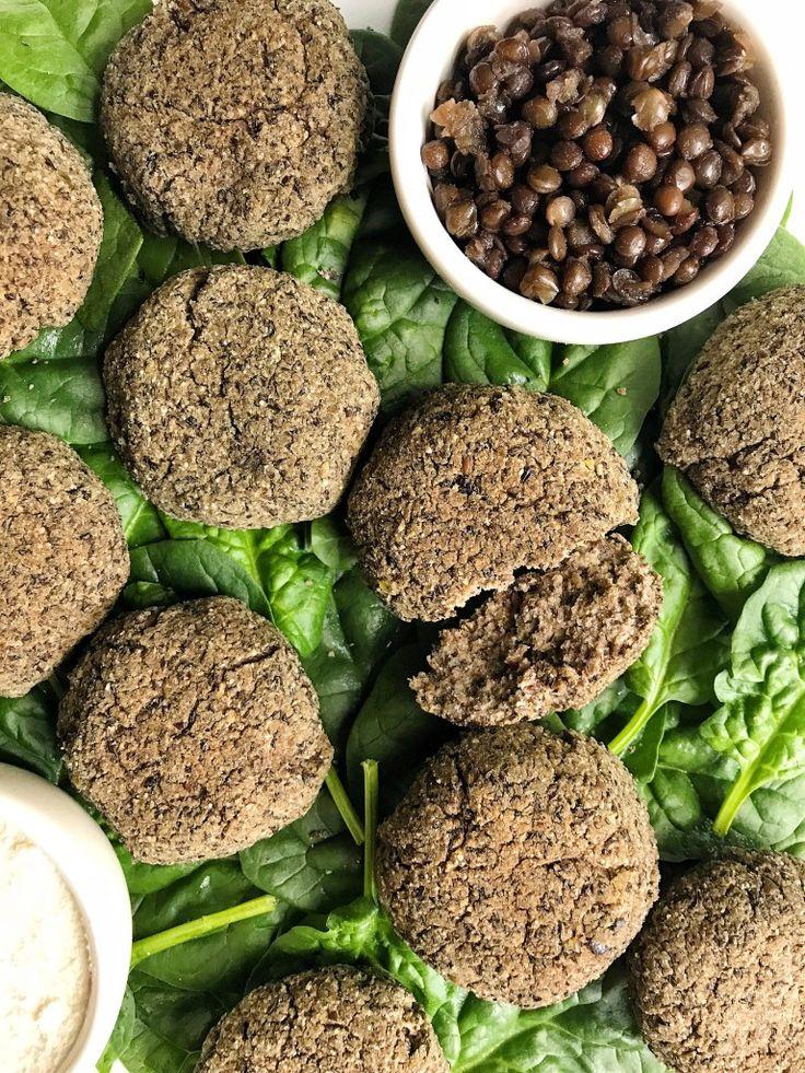 Crispy Black Lentil Falafel Bites