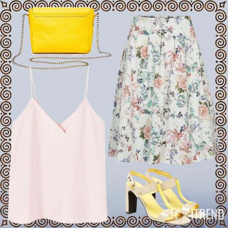 Чудесное сочетание одежды в пастельных тонах с яркими вкраплениями. Свежий, романтический образ для безупречного свидания.