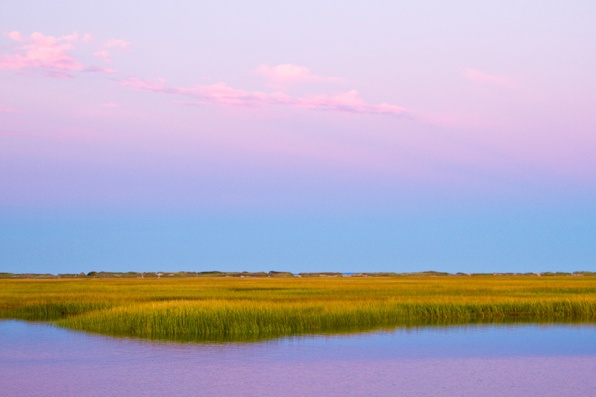 Cape Cod salt marsh at sunset