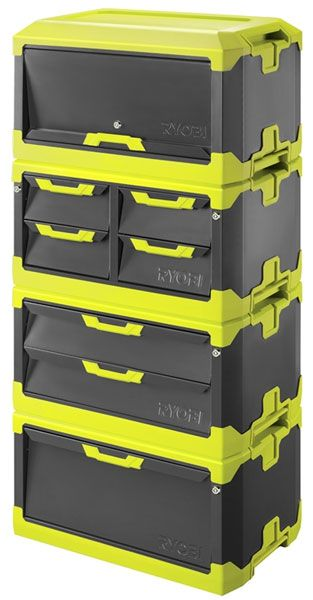 Locking drawers of various size. A couple of these and you wouldn't need a vet box!