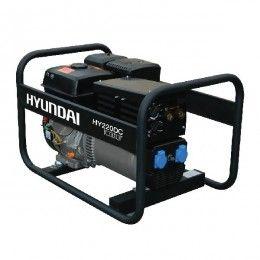 Hyundai HY220DC Hire Pro 4.4Kw / 5.5kVa* 150 Amp Recoil Start Site Petrol Welder Generator
