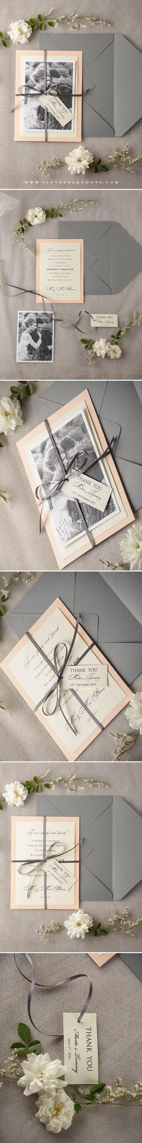 Wedding Thank You Card with Photo #weddingideas #thankyou #summerwedding