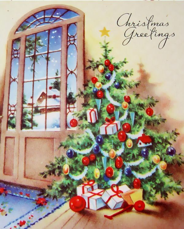 420 Best Old Fashioned Christmas Cards Trees Images On