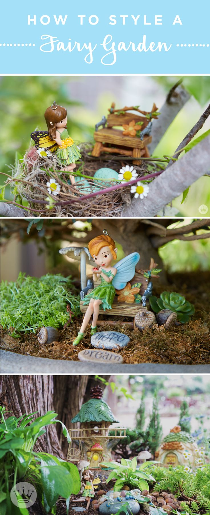 Welcome in summer by decorating your yard like a modern fairy garden. Think.Make.Share, a blog from the Creative Studios at Hallmark is sharing all the details from the magical workshop with plenty of fairy garden house ideas. It's a great project you and your kids can do together!
