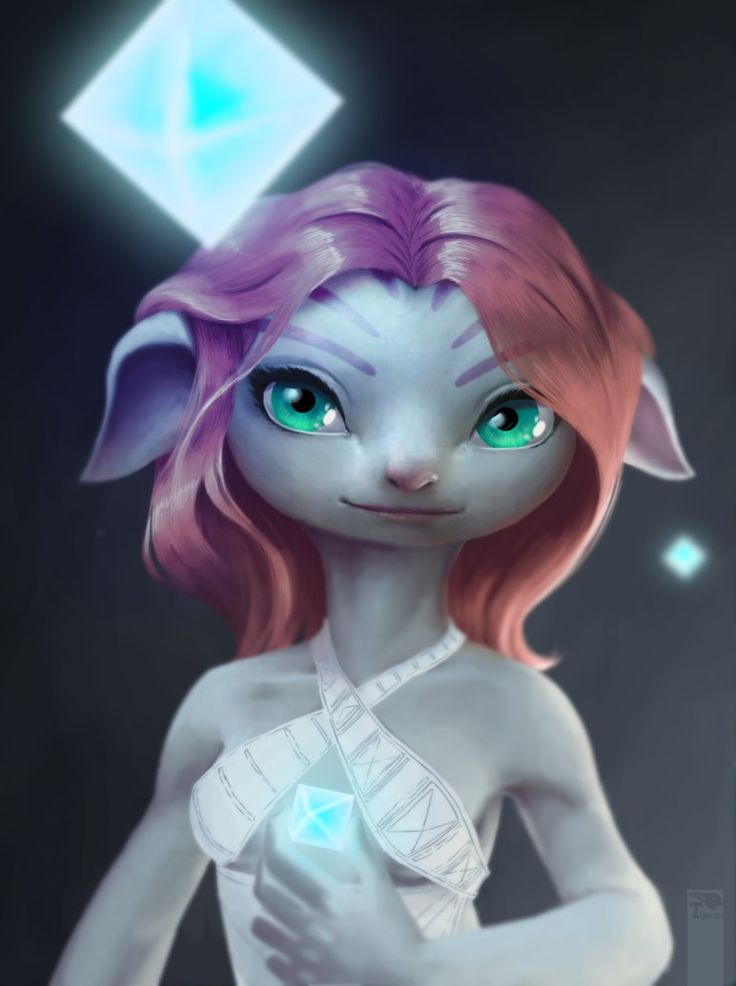 Portrait asura - guild wars 2 by goblinight