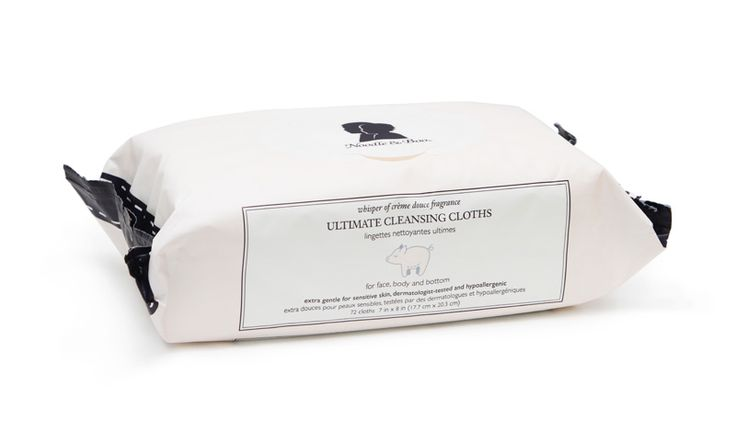 Ultimate Cleansing Cloths by Noodle & Boo.  Super soft baby wipes perfect for newborns and babies with sensitive skin.