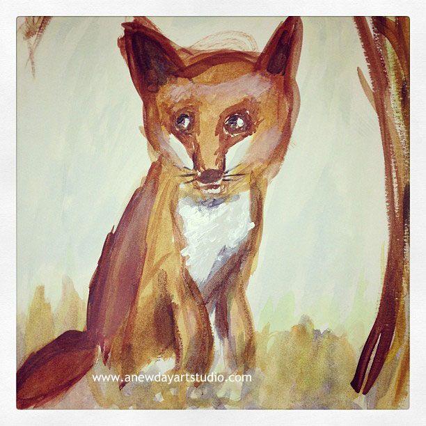 Fox totem painting