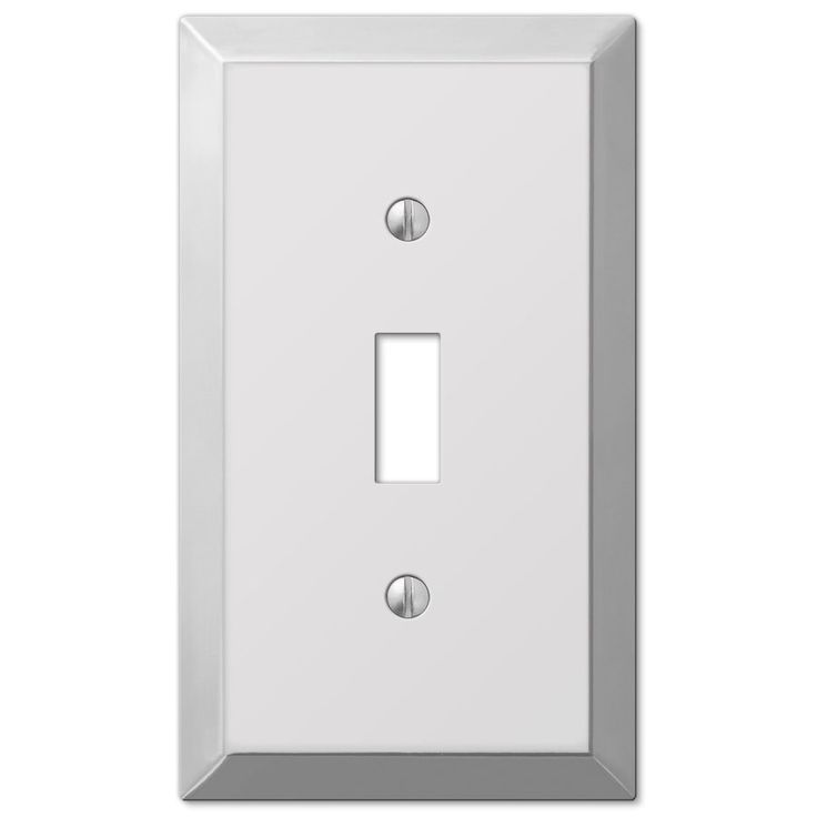 Amerelle Century 1-Gang Polished Chrome Standard Toggle Steel Wall Plate | Lowe's Canada