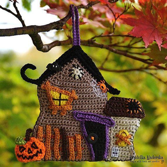 Casa embrujada de ganchillo  patrón de DIY por VendulkaM en Etsy