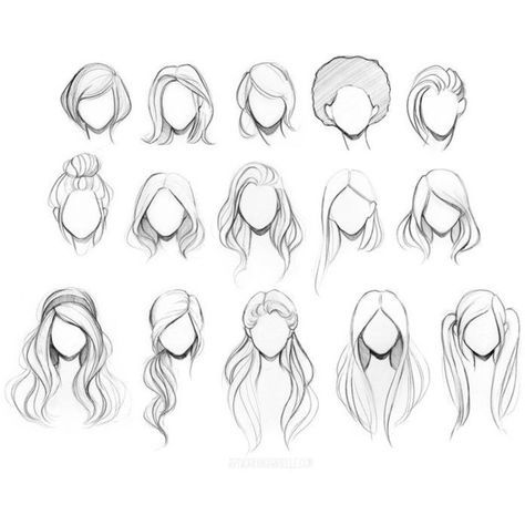 Character Hair Reference Sheet by gabbyd70 ❤ liked on Polyvore featuring home and home decor