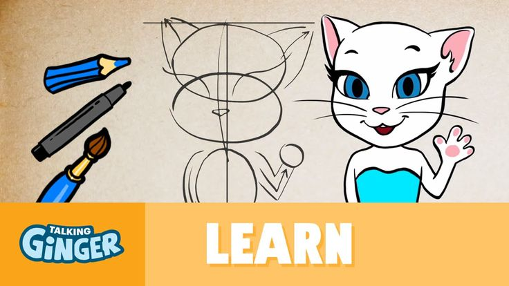 Let's Draw Talking Angela - Talking Ginger's Scribblemania xo, Talking Angela #TalkingFriends #TalkingGinger #TalkingAngela #LittleKitties #MyTalkingAngela