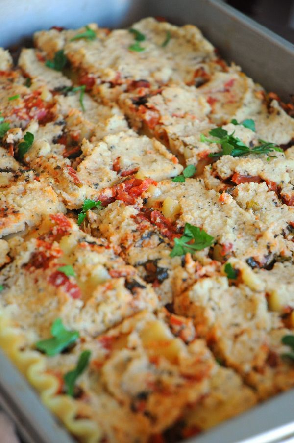 Vegan Lasagna with Ricotta Cheese - I've made this two days in a row now. It's DELICIOUS. My whole family loves it!