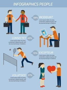 ING People relations infographics elements vector illustration