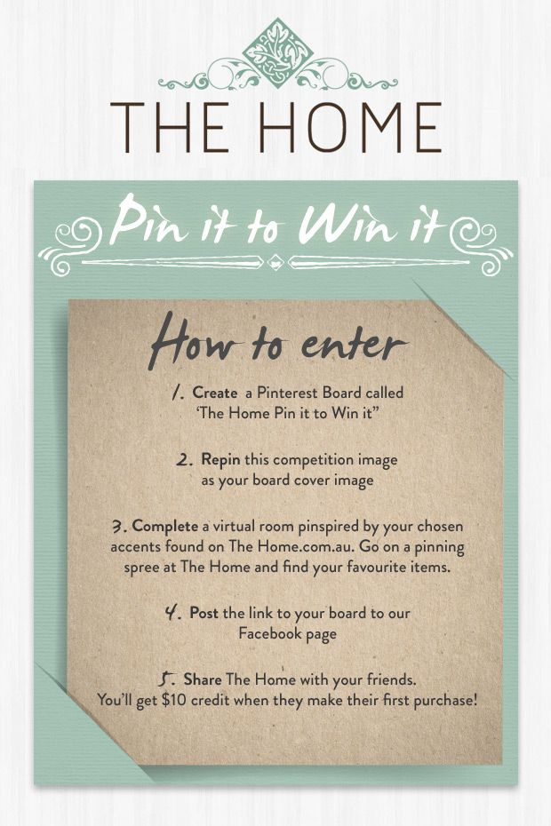 WIN 2 Bally Prints valued at $329.00! - FOLLOW us at Pinterest.com/TheHomeAus - CREATE a Pinterest Board called 'The Home Pin It to Win It' - REPIN this competition image as your board cover. - PIN your favourite items found on www.TheHome.com.au to make a virtual room - POST the link to your board Facebook.com/thehomeaus - SHARE The Home with your friends. You can enter as many boards as you like but entries must be received by the 28/08/14. For full T&Cs: http://on.fb.me/1ytVesS
