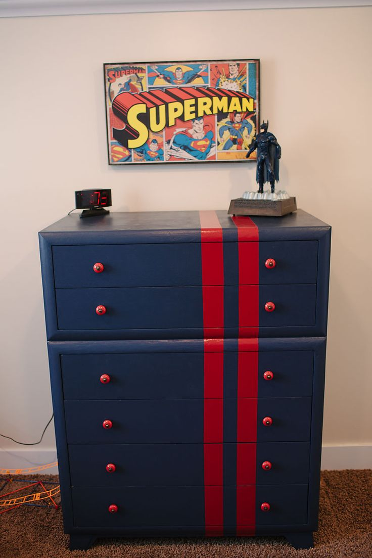 DIY superhero room - superman dresser