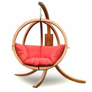 New Hanging Egg Round Chair   Swing Pod Outdoor Day Bed Timber Lounge  Furniture