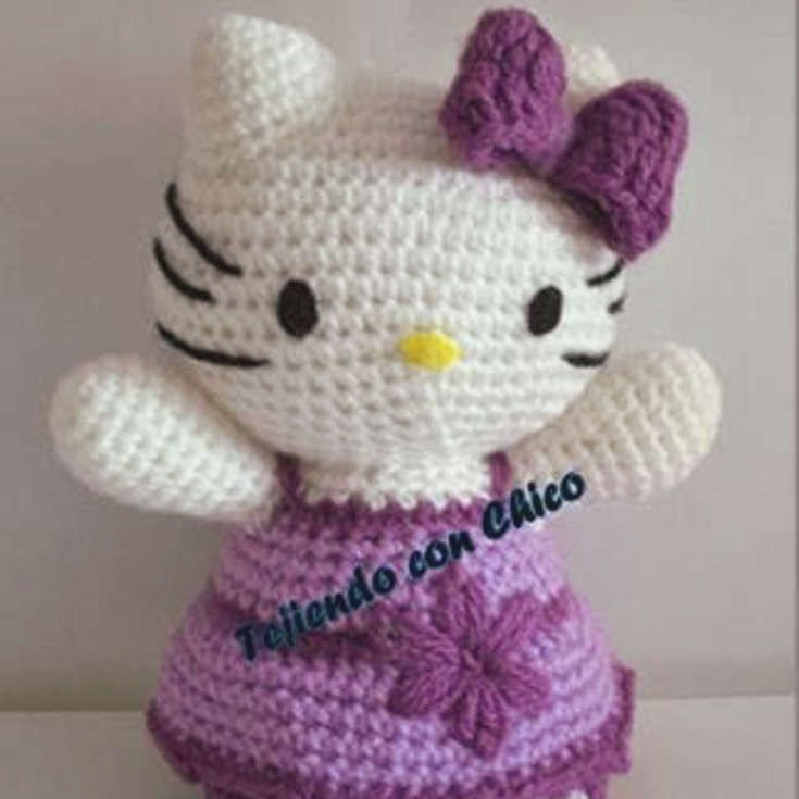 Free Purple Dress Hello Kitty Amigurumi Pattern