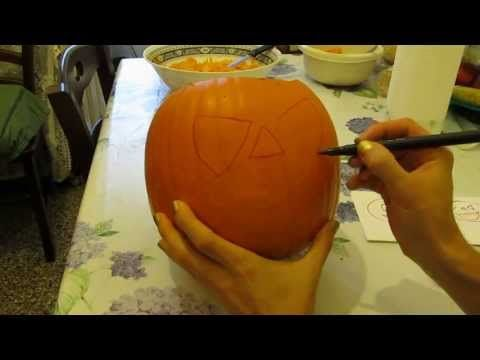 Speciale Halloween: TUTORIAL come intagliare e vuotare una zucca - YouTube