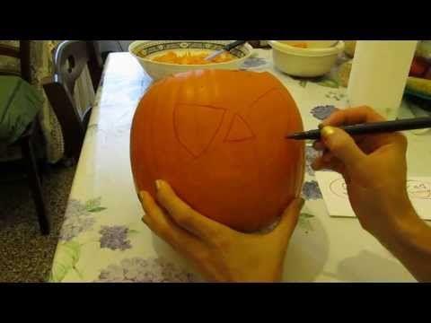 Speciale Halloween: TUTORIAL come intagliare e vuotare una zucca - YouTube