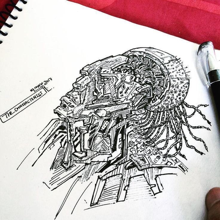 Random thing. . #sketch #sketching #sketches #sketches #sketchbook #drawing #drawings #art #artsy #artwork #doodle #doodles #characterist #hipster  #conceptart #instaart #ink #instadaily #illustration #geek #gaming #artwork #artoftheday #pen #cyberpunk #cyborg #followforfollow