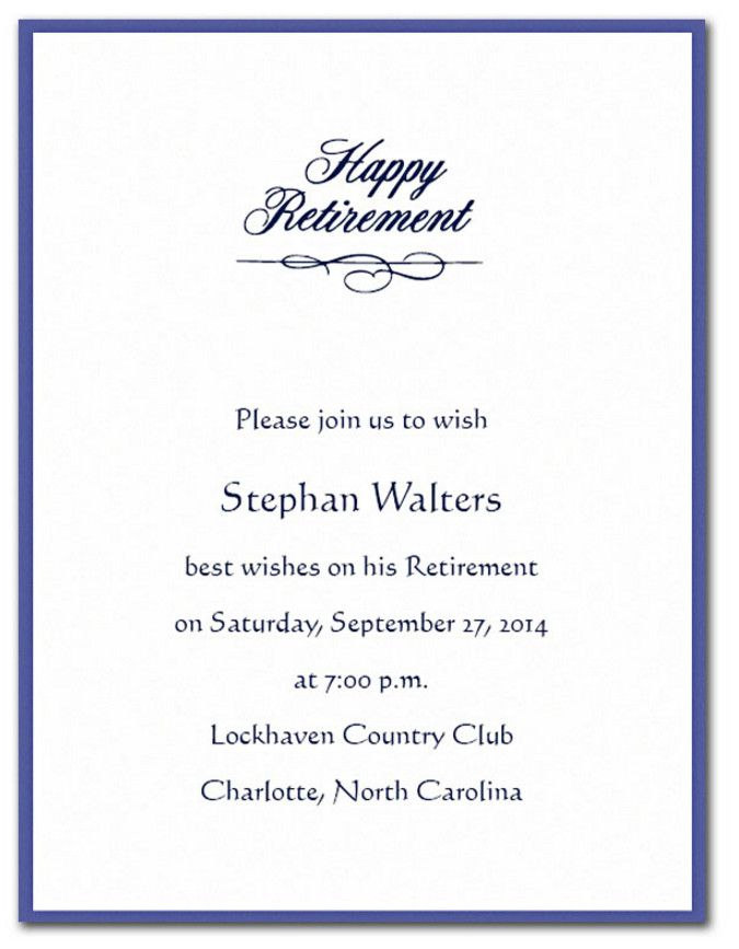 retirement cocktail party invitation wording
