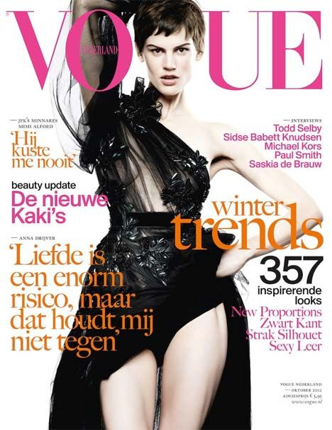 Saskia de Brauw Covers Vogue Netherlands October 2012
