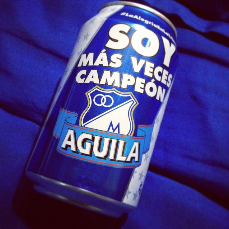 Cerveza Águila edición conmemorativa Millonarios F.C
