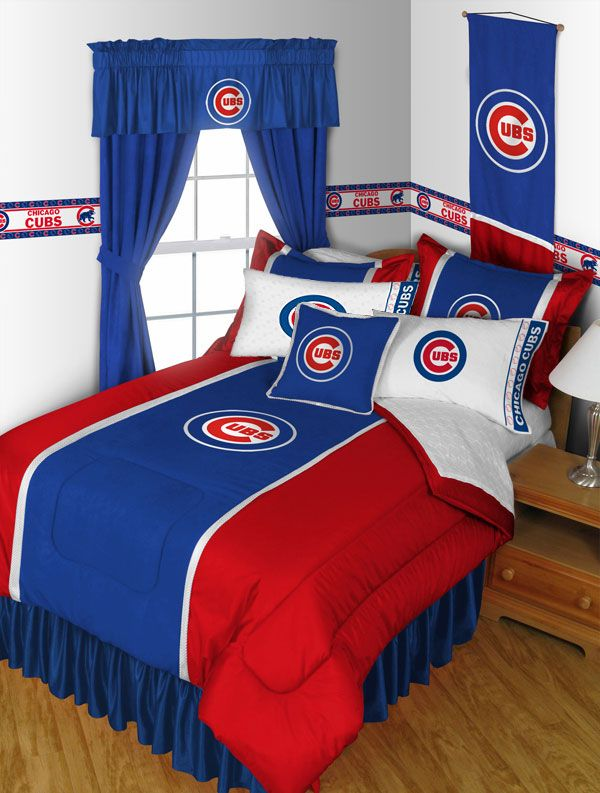 Image of 2 Pack MLB Cubs Pillowcases - Chicago Baseball Bed Accessories