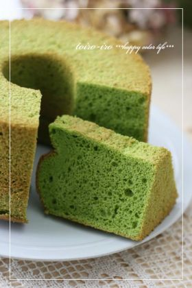 「野菜パウダーdeポパイシフォンケーキ♪」トイロ | お菓子・パンのレシピや作り方【corecle*コレクル】