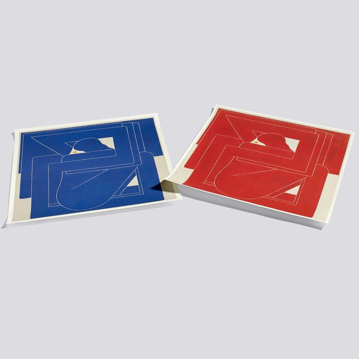 Square By Richard Colman Poster 70 X 70 Cm By Hay In Blue And Red Poster Colman Poster Design