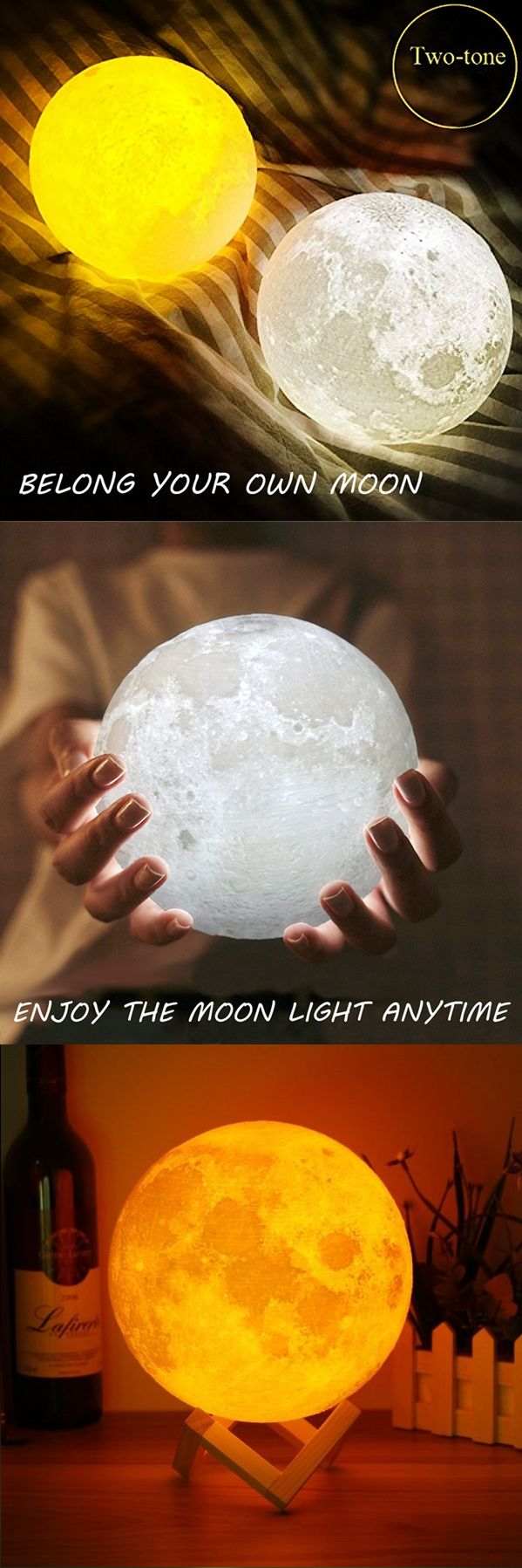 So Beautoful Moon Lamp Light!Must Have One in My Room.Right?2 Color Change Touch Switch.It's Amazing��