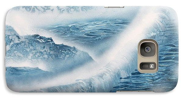 Waterfall From Heaven Galaxy S7 Case Printed with Fine Art spray painting image Waterfall From Heaven by Nandor Molnar (When you visit the Shop, change the orientation, background color and image size as you wish)