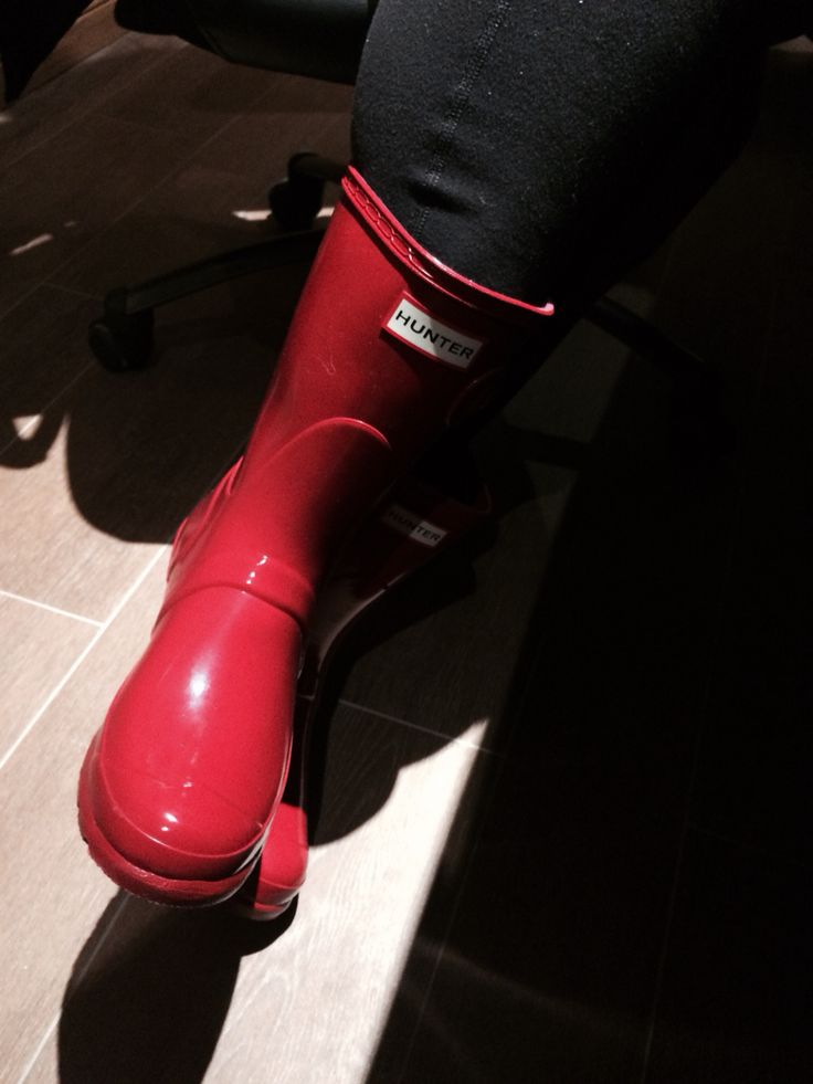 My #hunterboots for campaigning around our #littleredriding