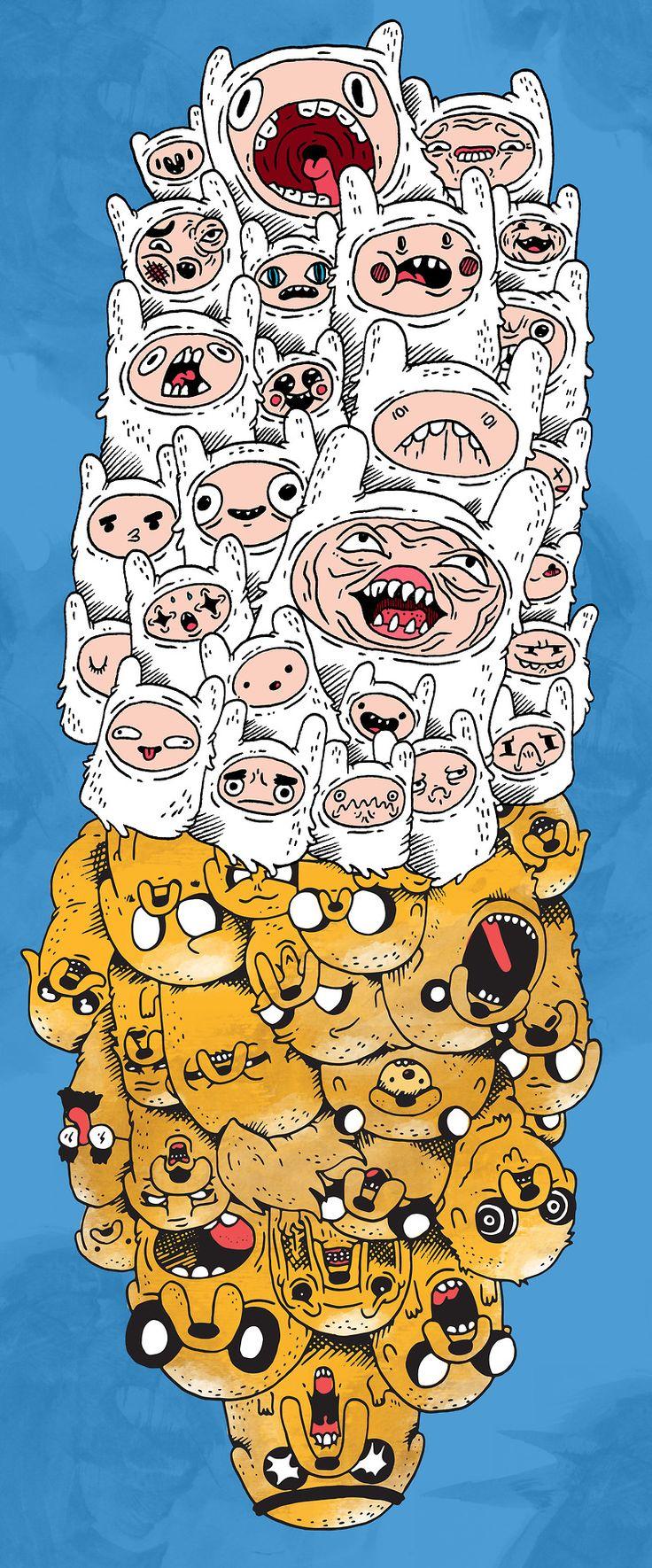 Dibujo Animado:Hora de Aventura Personajes:Finn el humano_Jake