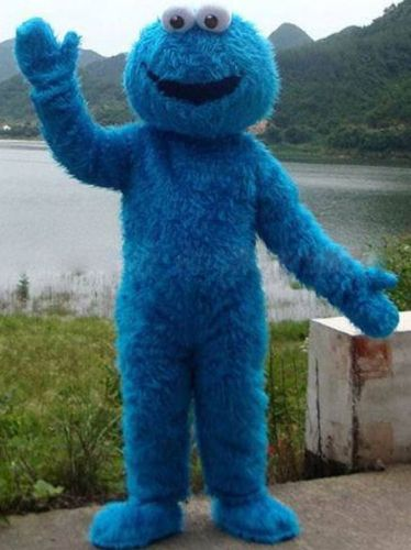 ==> [Free Shipping] Buy Best Free Shipping Sesame Street Blue Cookie Monster mascot costume Cheap Elmo Mascot Adult Character Costume Fancy Dress Online with LOWEST Price   32226011398