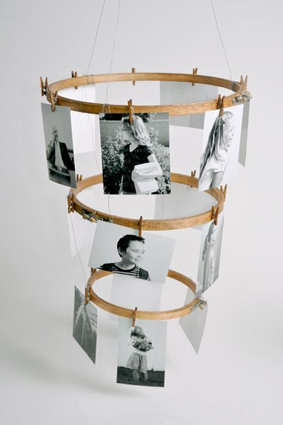 DIY Embroidery Hoop Photo Display (By Natalme.com). Get MORE Crafty Ideas using Embroidery Hoops, perfect for Mother's Day gifts, from HGTV Design Happens >> http://blog.hgtv.com/design/2013/04/15/mothers-day-gifts-crafts-to-make/?soc=pinterest