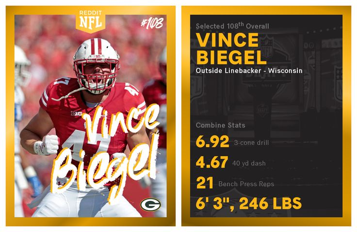 Round 4 - Pick 1: Vince Biegel OLB Wisconsin (Green Bay Packers)  http://ift.tt/2oJBB70 Submitted April 29 2017 at 12:14PM by NFL_Mod via reddit http://ift.tt/2pgKq6Q