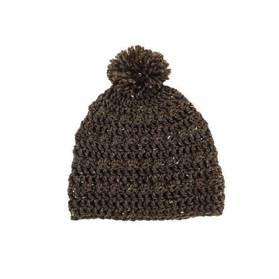 Womens Mens Bobble Pom Pom Slouchy Beanie Hat in Barley by Bucum, $23.00