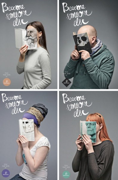 "This campaign, ""Become Someone Else"" by the Lithuanian Agency called Love for"